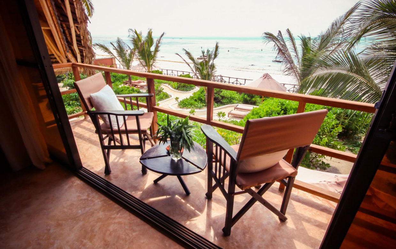 Zanzibar accommodatie - Jambiani Villa - balkon