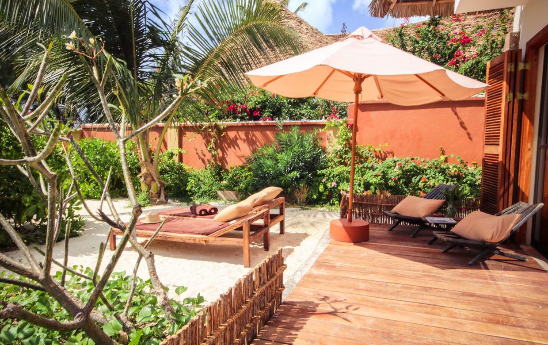 Zanzibar accommodatie - Jambiani Villa - Kaskazini terras