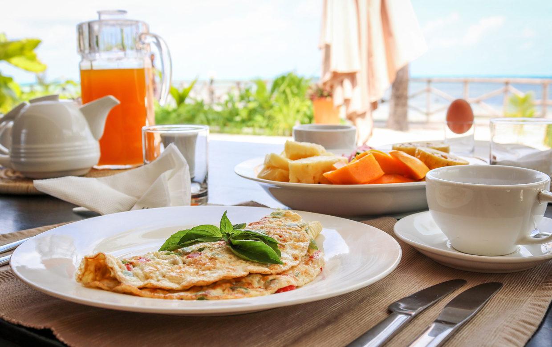 Zanzibar accommodatie - Jambiani Villa - ontbijt